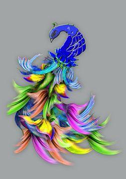 Andermans veren pauw met vissenstaart van MirEll digital art