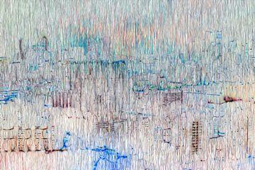 Abstract stad skyline van Maurice Dawson