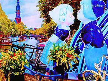 Touristisches Bild Amsterdam von Digital Art Nederland