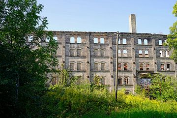 Ruine des Lagergebäudes des Böllberger Mühlen-Komplexes in Halle in Deutschland von Babetts Bildergalerie