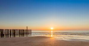 Als de zon de horizon kust van