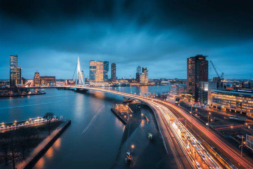 Rotterdam Rush Hour van Anthony Malefijt