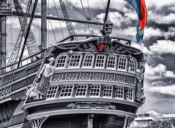 Das Schiff De Amsterdam an einem schönen Sommertag von Studio de Waay