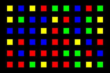 Nested | Center | 09x06 | N=01 | Random #04 | RGBY van Gerhard Haberern
