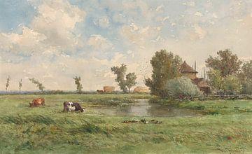 Wiese mit Kühen, Willem Roelofs (I)