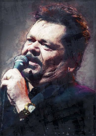 Andre Hazes Portret olieverf