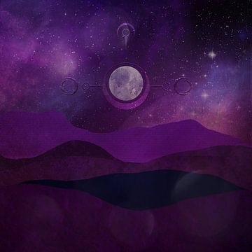Purple Night von Karin Schwarzgruber