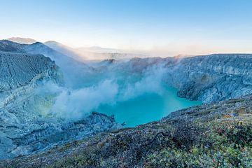 Kawa Ijen Vulkaan op Java van Lex van Doorn