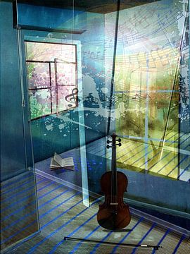 La musique flotte dans l'espace sur Gertrud Scheffler