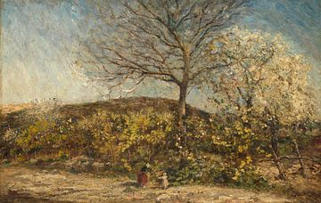 Landschaft mit blühendem Obstgarten, Adolphe Joseph Thomas Monticelli