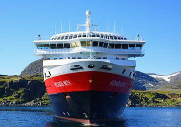 De Hurtigruten in de noorse zee van Gisela Scheffbuch