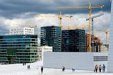 sur le toit de l'opéra sur Hanneke Luit