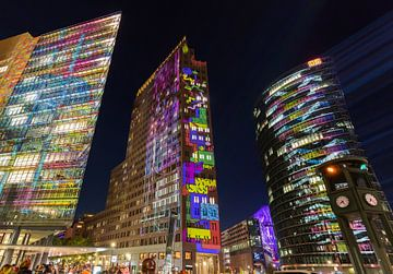 Potsdamer Platz Sykline Berlijn in een bijzonder licht