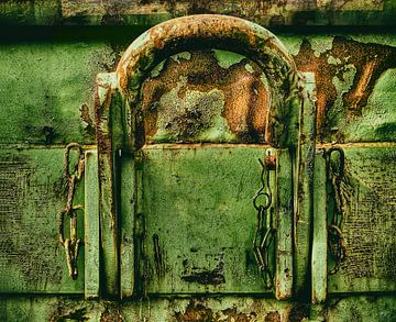 Grunge groen oranje van Jerome Coppo