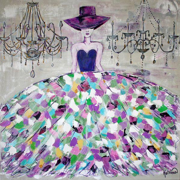 Moderne Frau in der Mode von Kathleen Artist Fine Art