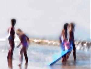 Strand sfeertjes   Speelende kinderen Katwijk