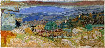 Landschap bij Le Cannet - Pierre Bonnard, 1928 van Atelier Liesjes