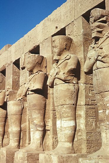 Beelden in de tempel van Amon (Karnak) van Herbelicht Fotografie