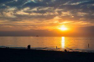 Ondergaande zon in Zeeland van