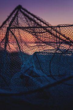 oud visnet in de ochtend van Florian Kunde