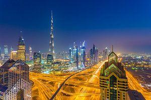 Dubai by Night - Burj Khalifa en Downtown Dubai - 2