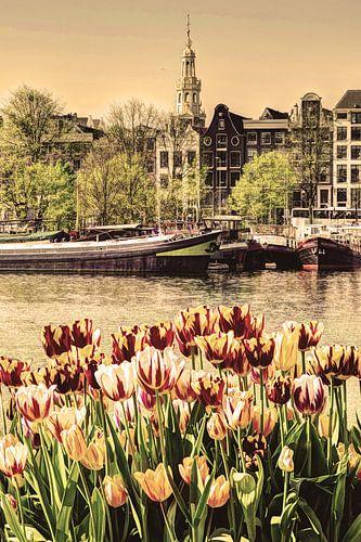 Binnenstad van Amsterdam Nederland Oud