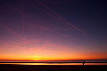 Zonsondergang op de Noordzee van Arjan Groot
