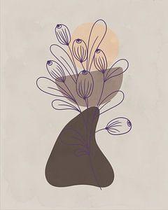 Minimalistische Illustration mit organischen Formen von Tanja Udelhofen