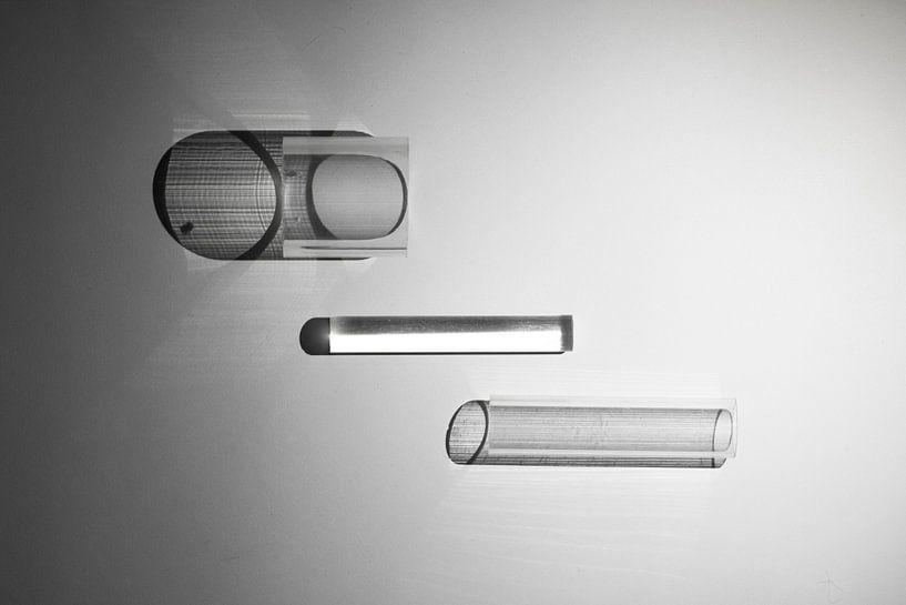 abstracte zwart/wit foto van Anneloes van Dijk