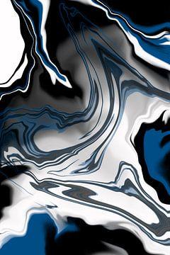 Vloeibaar marmer nr. 1 | Klassiek blauw van Melanie Viola