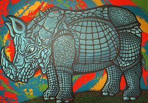 Neushoorn van Jeroen van Dongen
