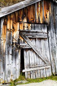 Verlaten hut van
