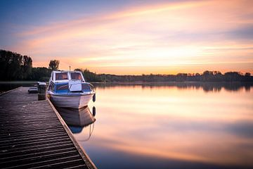 Kralingse plas met zonsopkomst II sur Prachtig Rotterdam