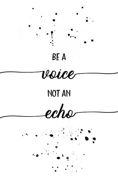 De tekst art een stem niet een echo van Melanie Viola