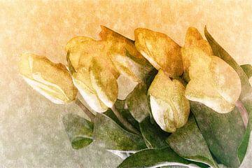 gelbe Tulpengruesse von Dagmar Marina
