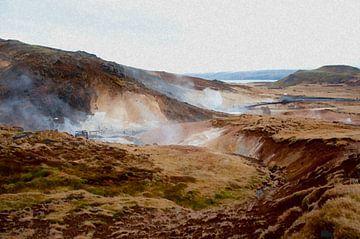 IJslands landschap van Victor Van Rooij