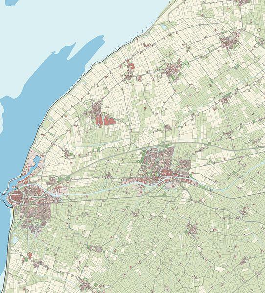 Kaart vanFranekeradeel van Rebel Ontwerp