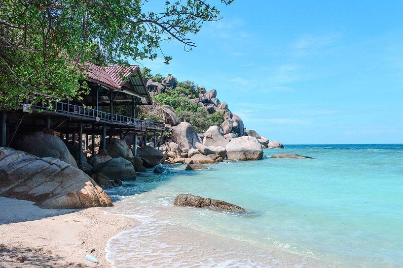 Tropisch strand in Koh Tao, Thailand van Suzanne Schuringa