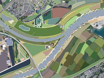 Westervoort bei Rhein und IJssel von Pastel Rainbow Studio