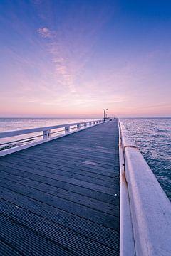 zonsondergang staketsel Nieuwpoort van mario vanparys