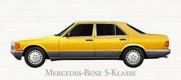 Mercedes-Benz S-Klasse W 126 in yellow von aRi F. Huber