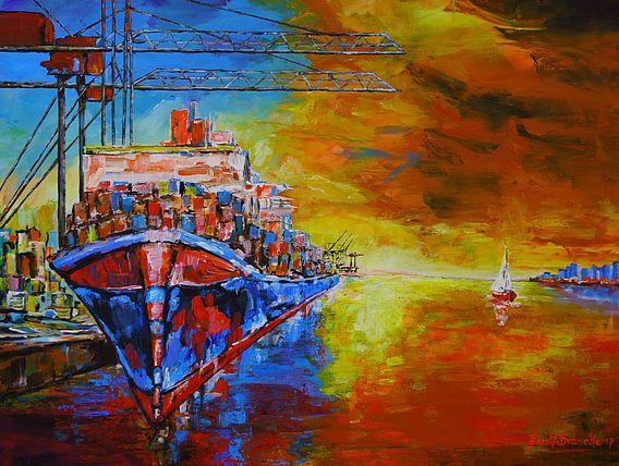 Im Hamburger Hafen von Eberhard Schmidt-Dranske