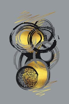 Dynamische Kunst Nr. 1 gold - Lebensabschnitte von Melanie Viola