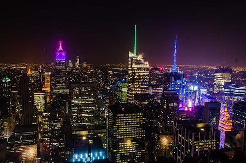 New York by night von Jose Gieskes