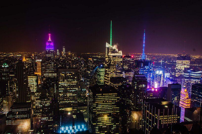 New York by night van Jose Gieskes