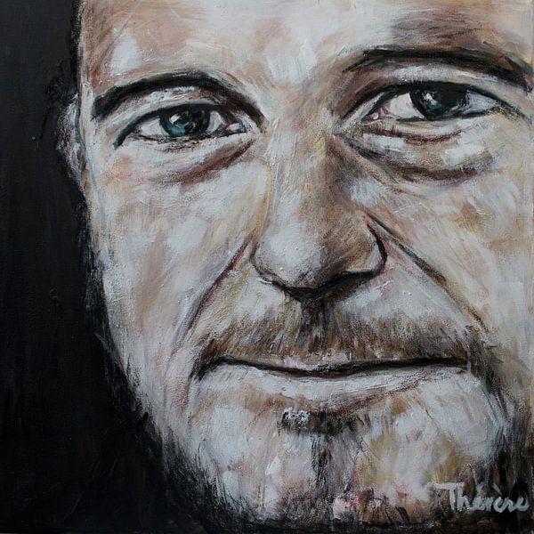 Porträtgemälde von Johnny dem Maulwurf. von Therese Brals
