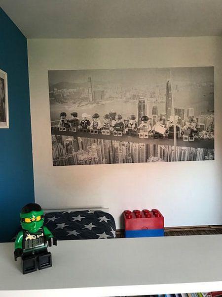 Klantfoto: Lunch atop a skyscraper Lego edition van Marco van den Arend