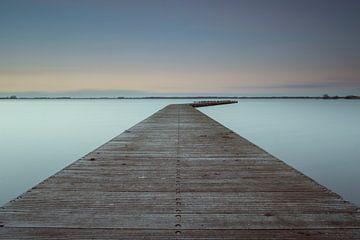 Zuidlaardermeer bij schemer von Harry Kors