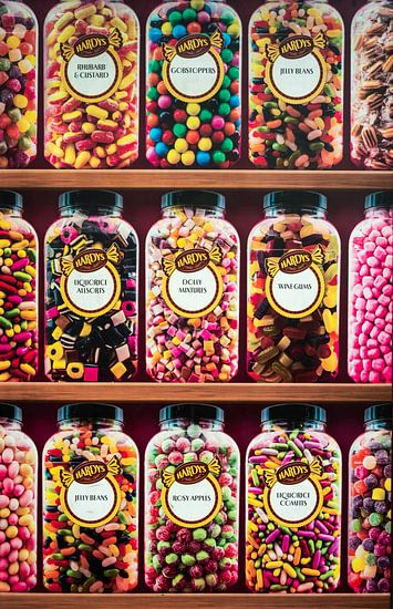 Engels snoepgoed van Rietje Bulthuis