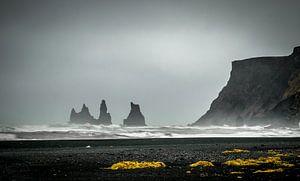 Vik schwarzen Sandstrand